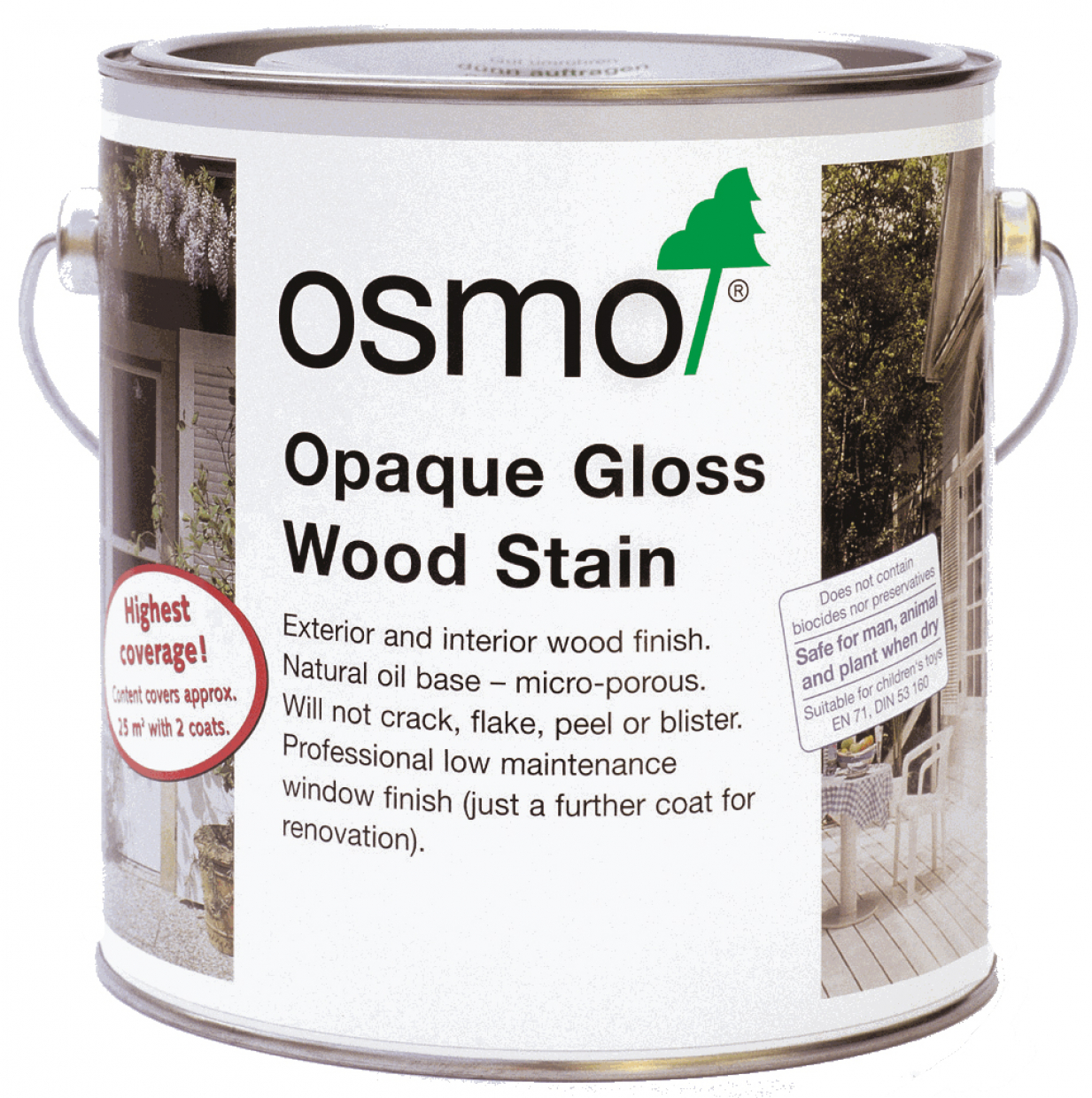 OSMO WHITE GLOSS (OPAQUE WOOD STAIN) 2104