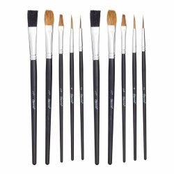 HARRIS SERIOUSLY GOOD ARTIST BRUSHES - FLAT (PACK OF 10)
